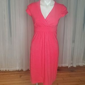 BODEN WH313 CORAL T-SHIRT DRESS- SIZE 4